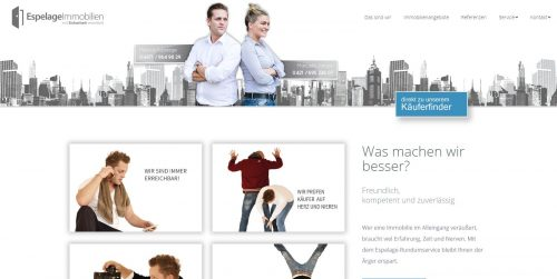 Espelage Immobilien -Homepages 4U - Creative Webdesign