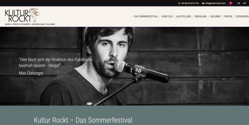 Kultur Rockt -Homepages 4U - Creative Webdesign